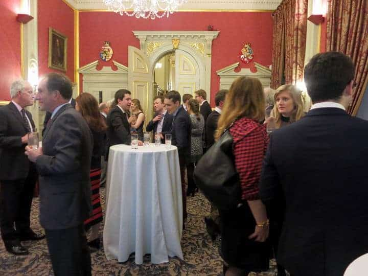 Members keep in touch with Oxford and Cambridge sailing at the annual drinks party