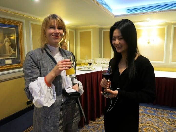 Photo of two ladies for drinks party