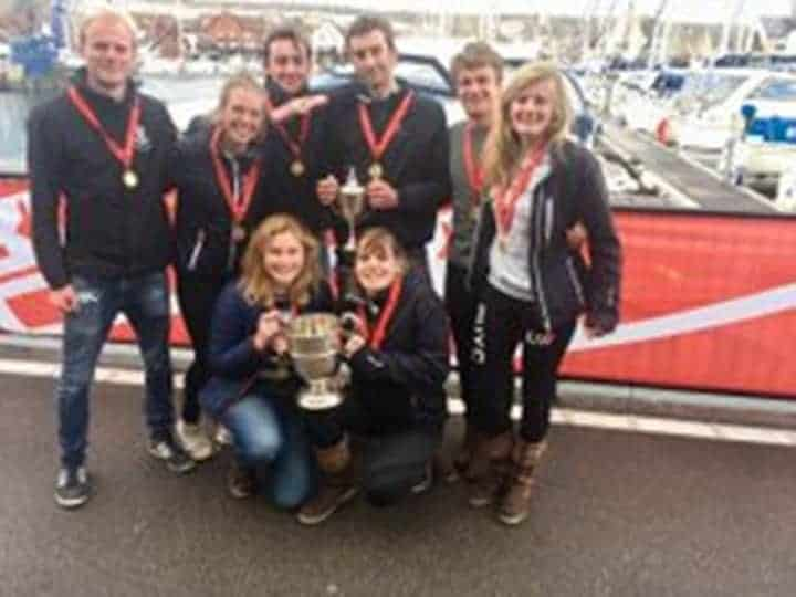 Photo of Oxford team for Oxford Cambridge yachting Varsity Match 2018