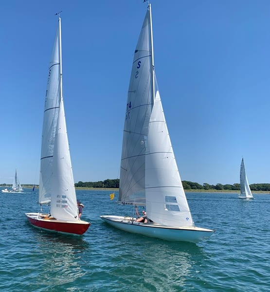 Photo of two boats sailing